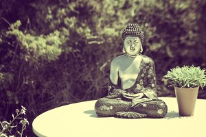 Buddha on a table