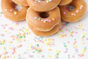 Glazed Donuts w/ Sprinkles
