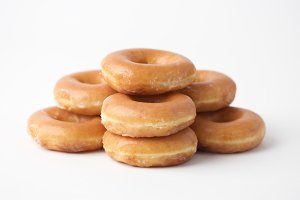 Stack of Glazed Donuts