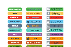 Web element shop button vector