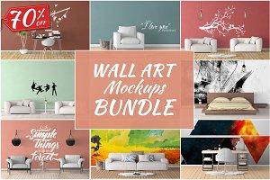 Wall Art Mockups BUNDLE V11