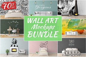 Wall Art Mockups BUNDLE V12