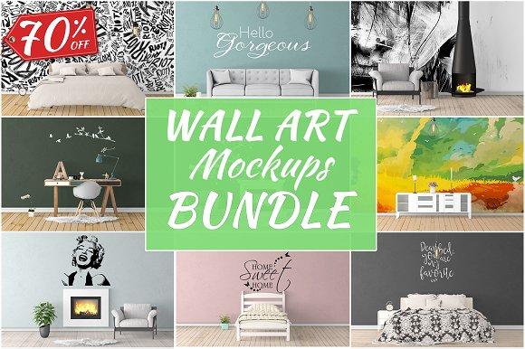 Wall Art Mockups BUNDLE V12