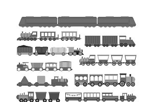 City transport vector set