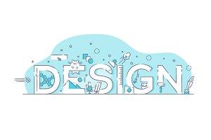 Line Design Concept Word