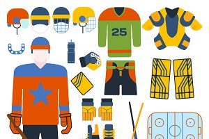 Hockey uniform set