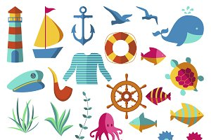 Nautical and marine icons