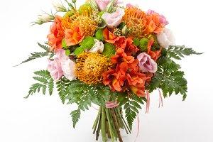 Protea flowers bouquet
