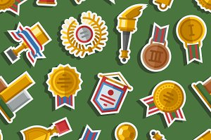 Seamless pattern with trophy