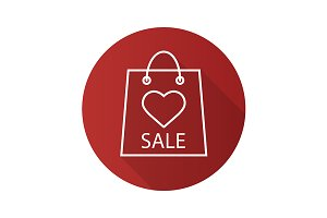 Valentines Day sale icon. Vector