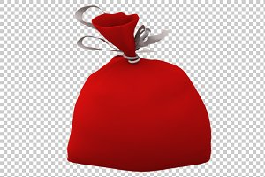 Santa Bag - 3D Render PNG