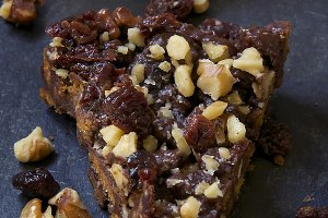 Chocolate Biscuit Cake Slice