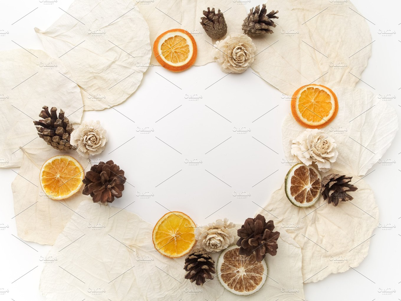 Creative Framework On White Flat Lay Top View Christmas Background Wallpaper Holiday Photos Market