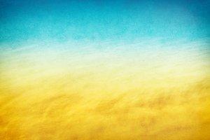 Yellow Blue Ocean Wave
