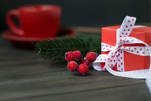 hristmas gift box background