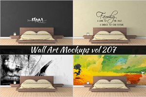 Wall Mockup - Sticker Mockup Vol 207
