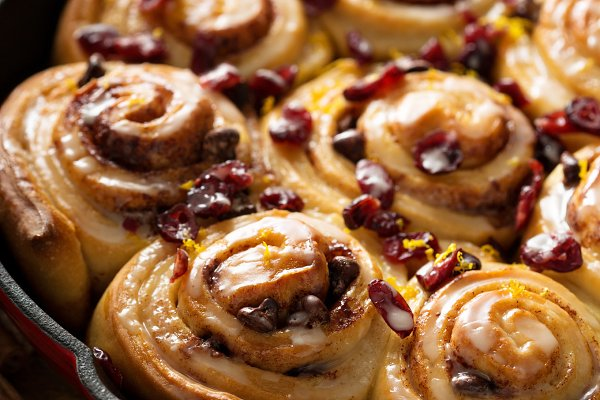 Cinnabon buns with cranberry and or…