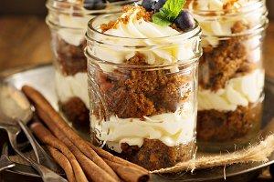 Carrot cake in a jar