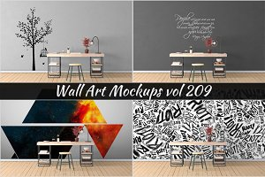 Wall Mockup - Sticker Mockup Vol 209