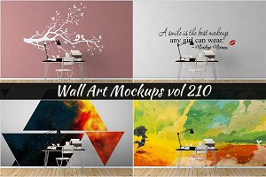 Wall Mockup - Sticker Mockup Vol 210