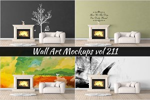 Wall Mockup - Sticker Mockup Vol 211