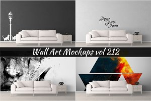 Wall Mockup - Sticker Mockup Vol 212