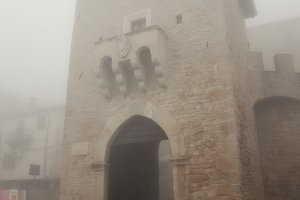 Republic of San Marino, October 12, 2012: Porta San Francesco during foggy weather