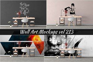 Wall Mockup - Sticker Mockup Vol 213