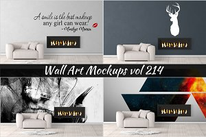 Wall Mockup - Sticker Mockup Vol 214