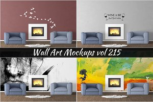 Wall Mockup - Sticker Mockup Vol 215