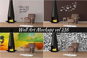 Wall Mockup - Sticker Mockup Vol 216