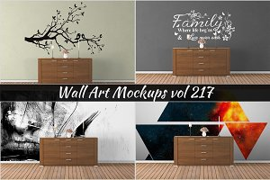 Wall Mockup - Sticker Mockup Vol 217