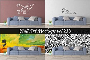 Wall Mockup - Sticker Mockup Vol 218
