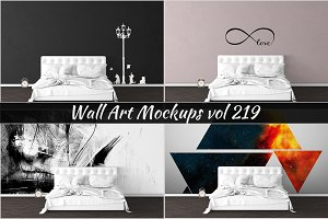 Wall Mockup - Sticker Mockup Vol 219