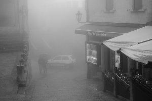 Autumn San Marino during rain