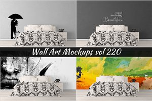 Wall Mockup - Sticker Mockup Vol 220