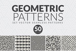 50 GEOMETRIC SEAMLESS PATTERNS