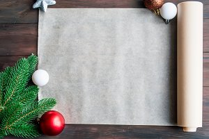 Blank note for recipes of christmas