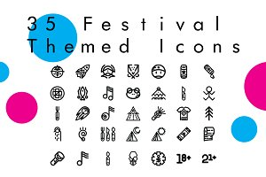 Escape - 35 Festival Themed Icons