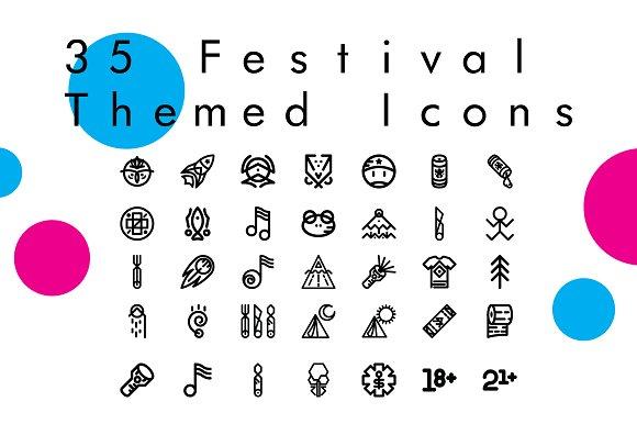 Escape 35 Festival Themed Icons