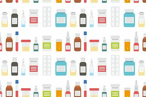 Medicine bottles collection