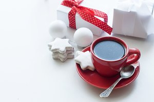 cup of coffee christmas morning