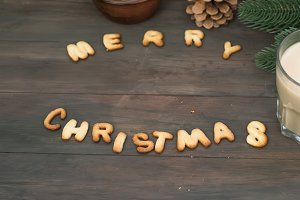 Merry christmas biscuit letters
