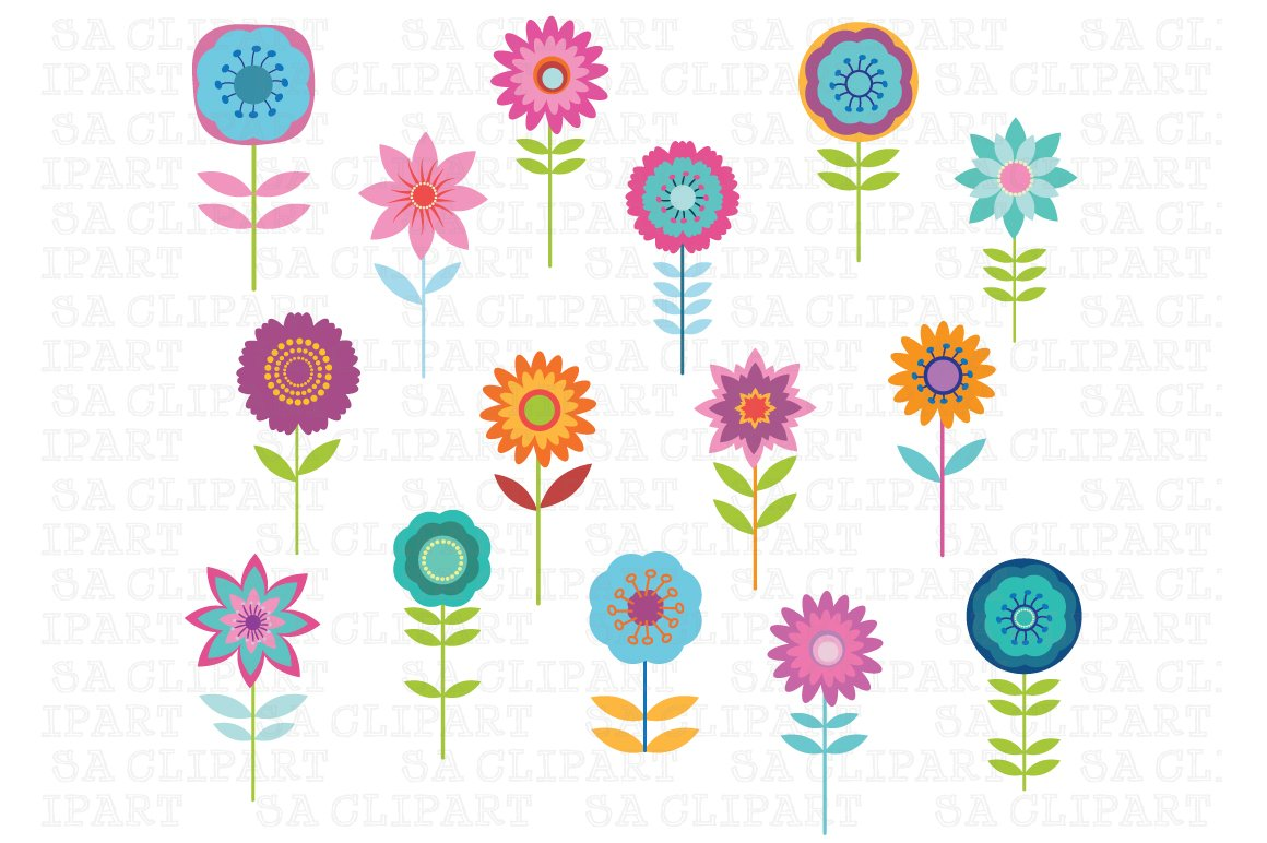 Cute Flower Clipart ~ Illustrations ~ Creative Market