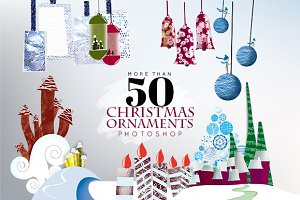 50 Christmas Ornaments -Photoshop-
