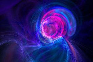 Colorful wormhole galaxy abstract background