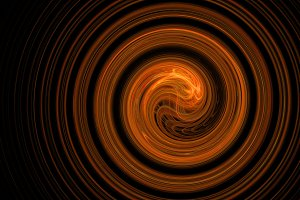 Red spiral abstract background with galaxy glow