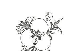abstract ornament in sketch style
