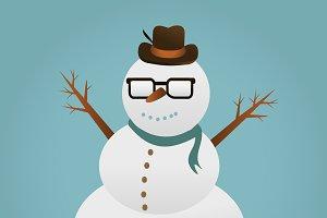Snowman. Christmas design.