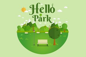 Hello Park. Natural landscape